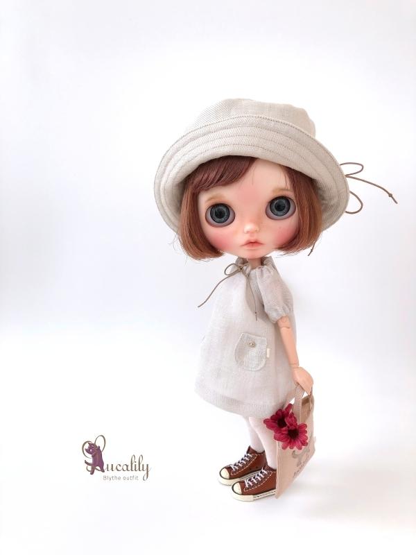 * lucalily * dolls clothes * Smoky pink patchwork blouson set *_d0217189_19120046.jpg