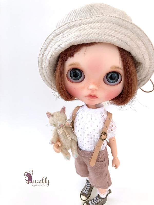 * lucalily * dolls clothes * Smoky pink patchwork blouson set *_d0217189_19121201.jpg