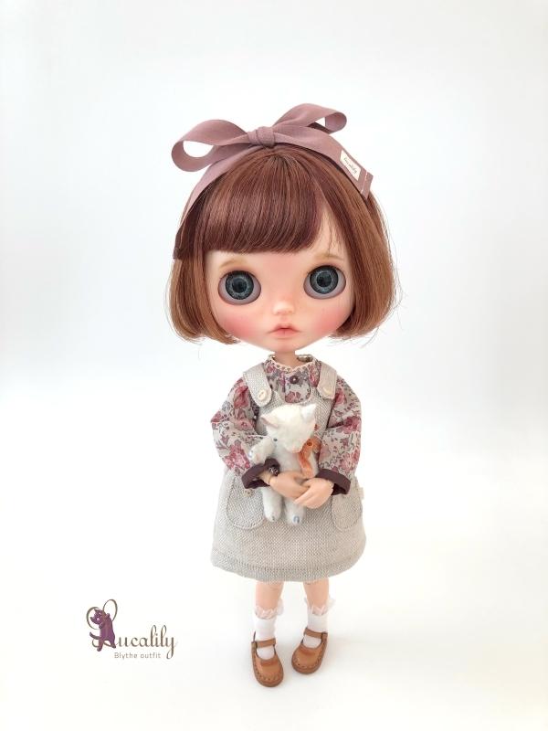 * lucalily * dolls clothes * Smoky pink patchwork blouson set *_d0217189_19121888.jpg