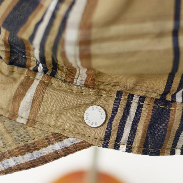 DECHO[デコー] SHALLOW KOME CAP [2-1SD20] シャローコメキャップ・チェックキャップ MEN\'S/LADY\'S_f0051306_14145116.jpg