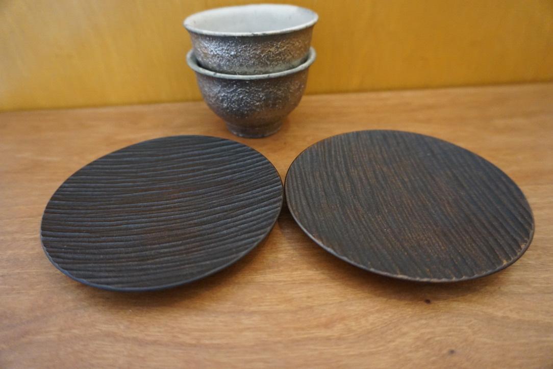 工房くさなぎさんの拭き漆豆皿と茶杯_b0132442_13445136.jpeg