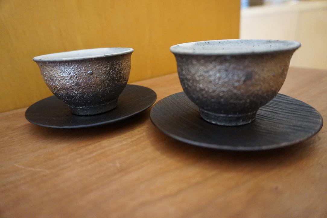 工房くさなぎさんの拭き漆豆皿と茶杯_b0132442_13450278.jpeg