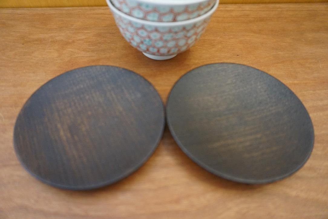 工房くさなぎさんの拭き漆豆皿と茶杯_b0132442_13451300.jpeg
