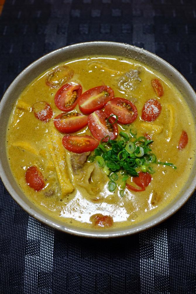 ウチで食べよう SANS SOUCIの胡麻カレーうどんスープ_b0049152_14563268.jpg