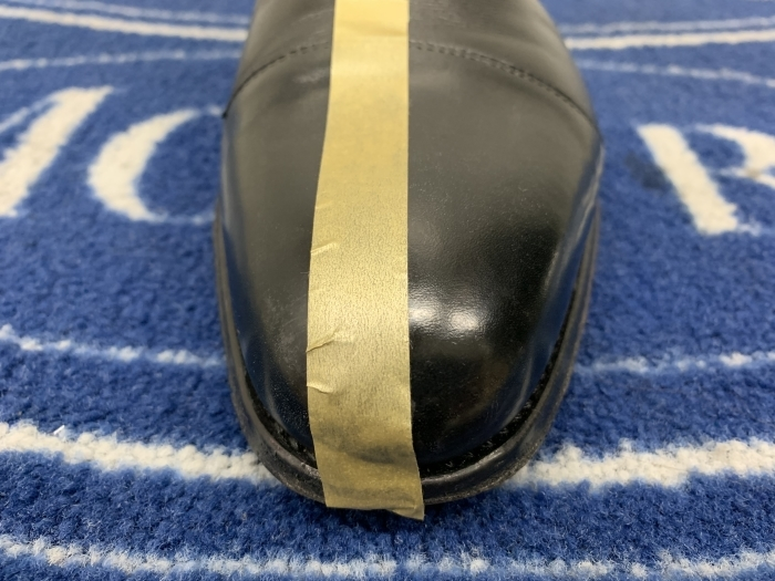 おうちで靴磨き 「鏡面磨きの端っこに段差はあるのか」_b0226322_15240426.jpg