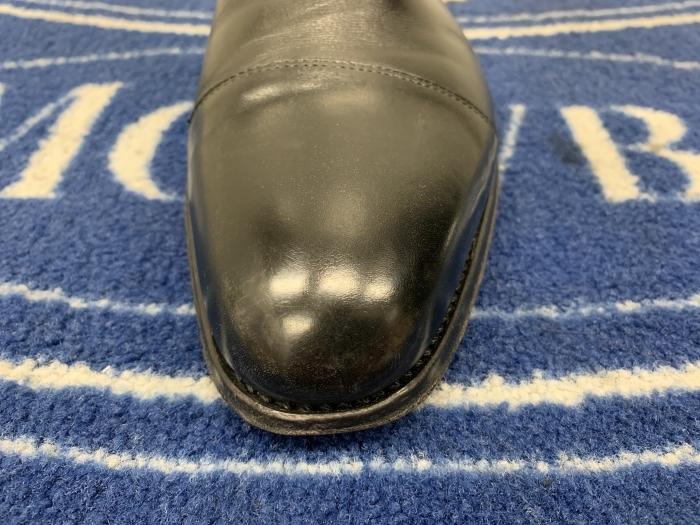 おうちで靴磨き 「鏡面磨きの端っこに段差はあるのか」_b0226322_15450995.jpg