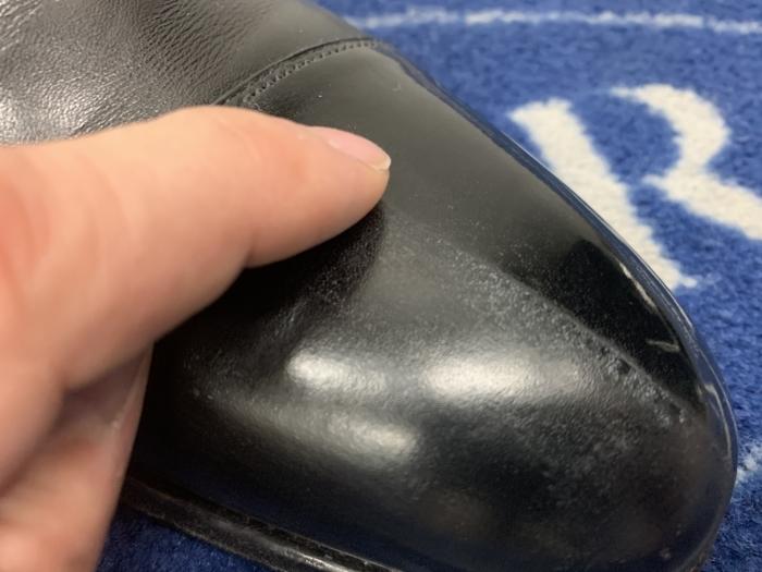 おうちで靴磨き 「鏡面磨きの端っこに段差はあるのか」_b0226322_15545321.jpg