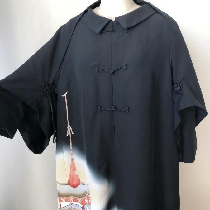 着物着物リメイク/留袖からチャイナボタンのワンピース_d0127925_10274908.jpg