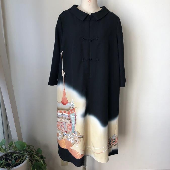 着物着物リメイク/留袖からチャイナボタンのワンピース_d0127925_10280039.jpg