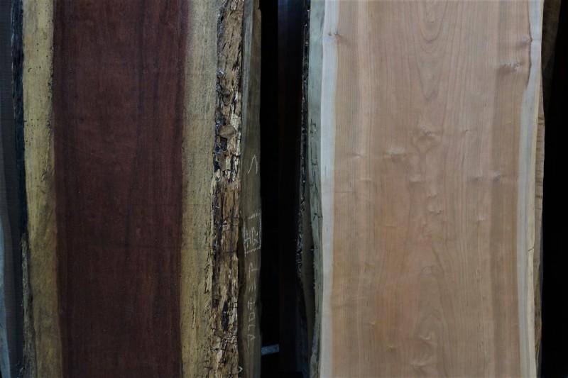 一枚板カウンター パープルハートとブラックチェリー_e0156341_19023595.jpg