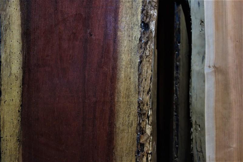 一枚板カウンター パープルハートとブラックチェリー_e0156341_19024516.jpg