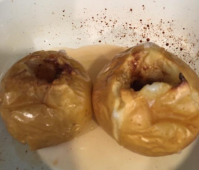 引きこもりのおやつー水羊羹、焼きリンゴ、などなど_e0350971_05463202.jpg