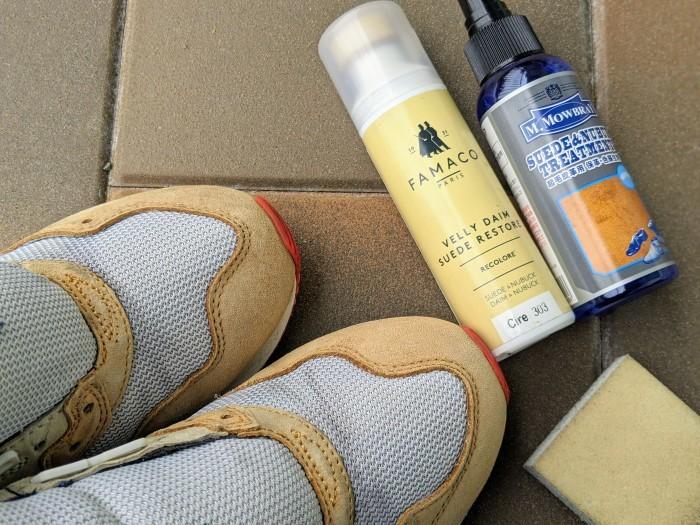 【おうちで靴磨き】スニーカーのスエード補色。_b0226322_15341676.jpg