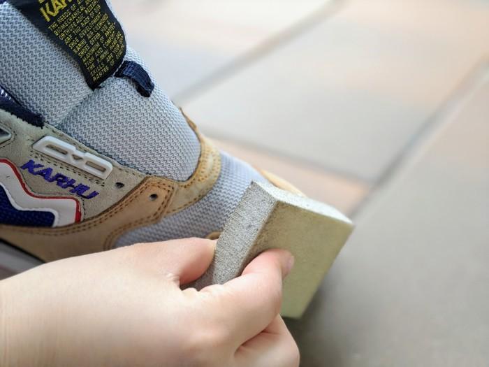 【おうちで靴磨き】スニーカーのスエード補色。_b0226322_15342190.jpg