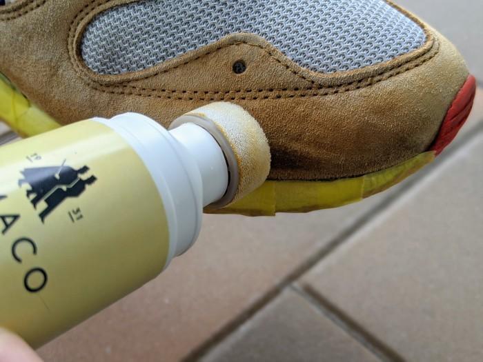【おうちで靴磨き】スニーカーのスエード補色。_b0226322_15343773.jpg
