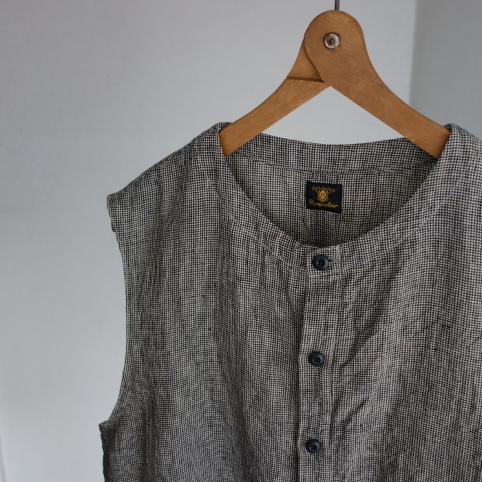 6月の製作 / classic linen artisanal vest_e0130546_13004606.jpg