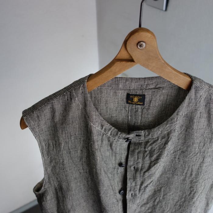 6月の製作 / classic linen artisanal vest_e0130546_13021954.jpg