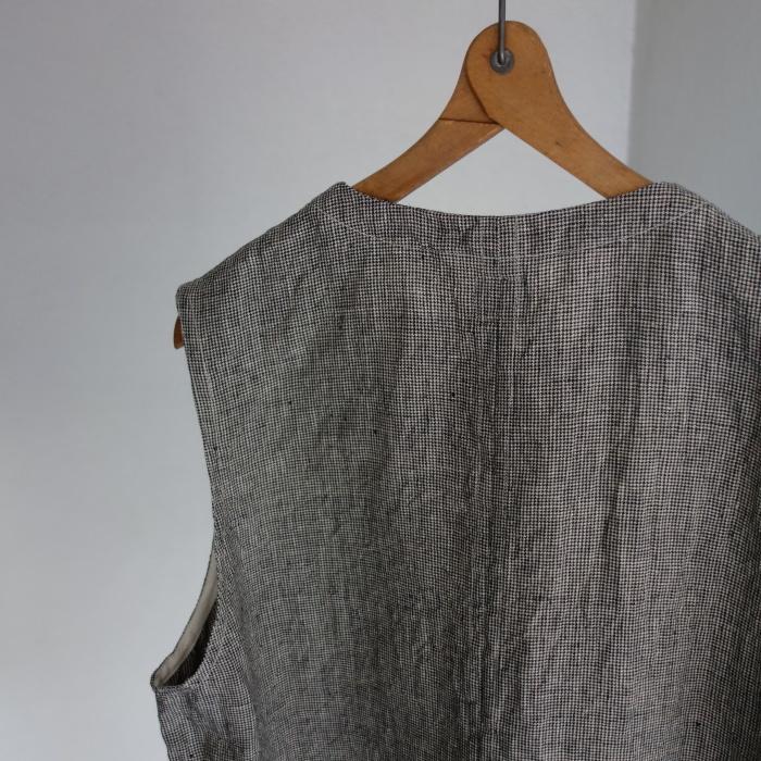 6月の製作 / classic linen artisanal vest_e0130546_13035337.jpg