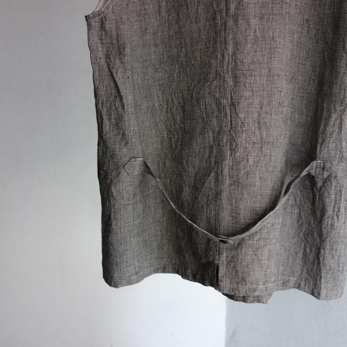 6月の製作 / classic linen artisanal vest_e0130546_13040735.jpg