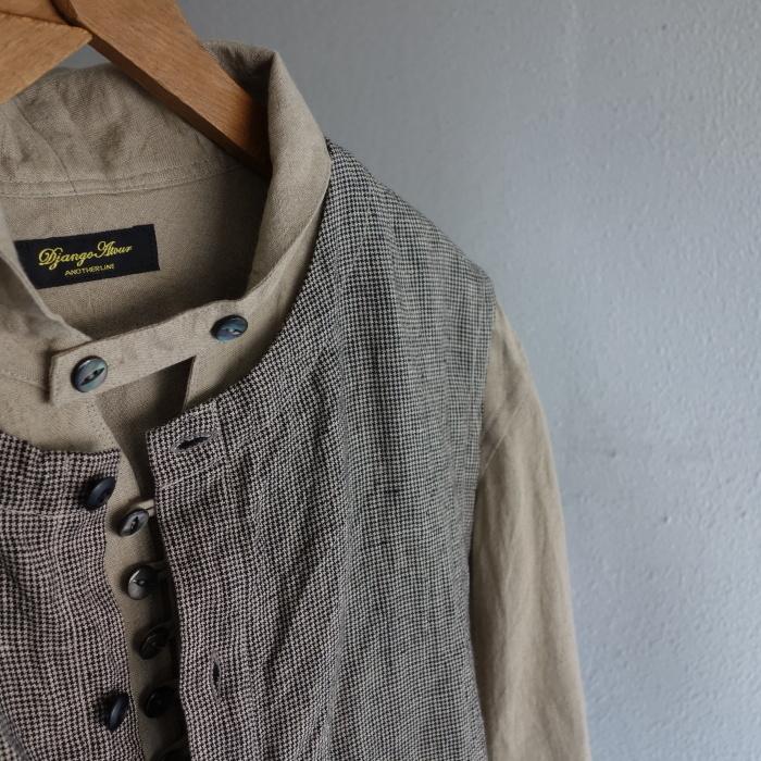 6月の製作 / classic linen artisanal vest_e0130546_13051622.jpg