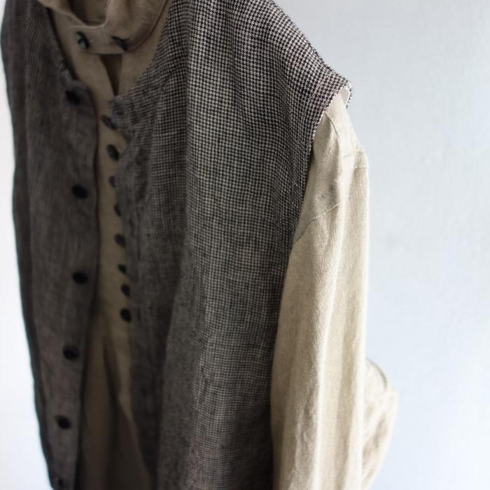6月の製作 / classic linen artisanal vest_e0130546_13054019.jpg