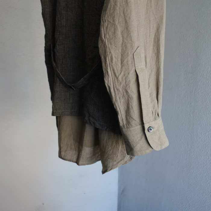 6月の製作 / classic linen artisanal vest_e0130546_13062348.jpg