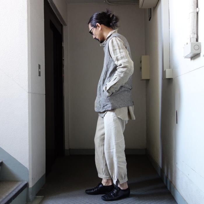 6月の製作 / classic linen artisanal vest_e0130546_13180070.jpg