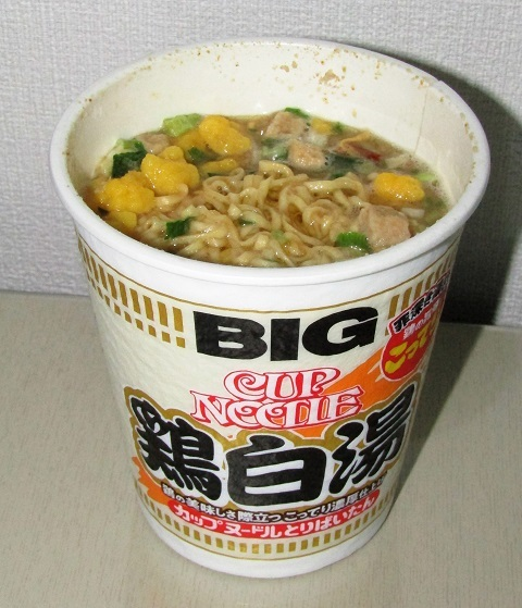 カップヌードル BIG 鶏白湯~たまには違う事_b0081121_17460396.jpg