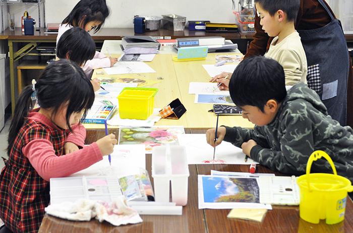 おうちで描こうよ 児童画クラス点描画_b0212226_15102916.jpg