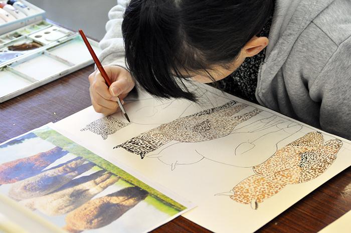 おうちで描こうよ 児童画クラス点描画_b0212226_15170146.jpg