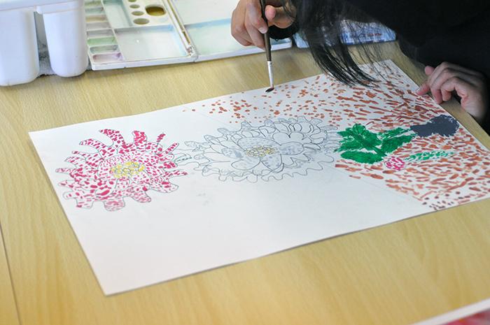 おうちで描こうよ 児童画クラス点描画_b0212226_15173545.jpg