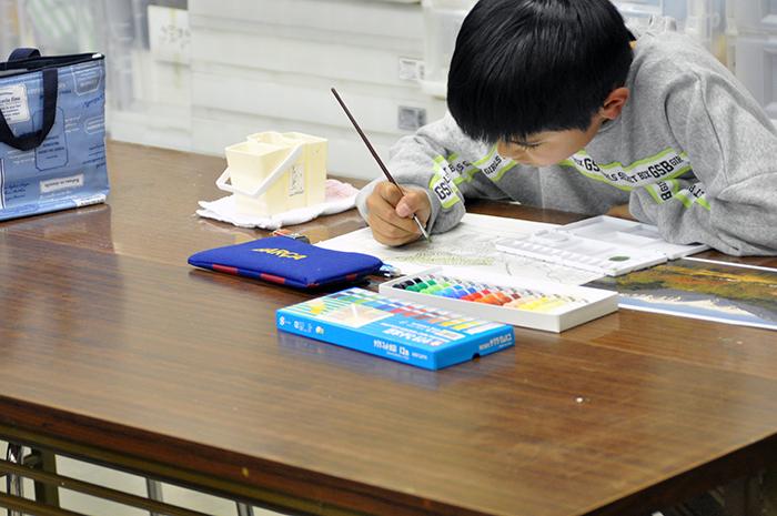 おうちで描こうよ 児童画クラス点描画_b0212226_15264745.jpg
