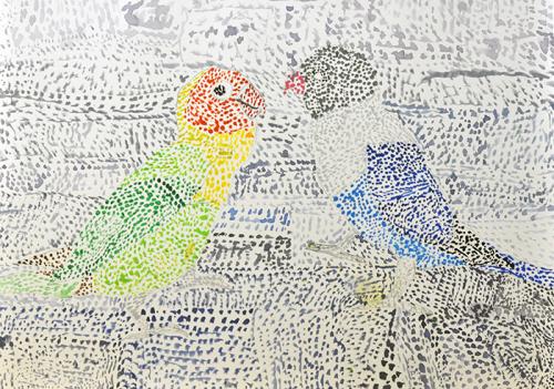 おうちで描こうよ 児童画クラス点描画_b0212226_15295130.jpg