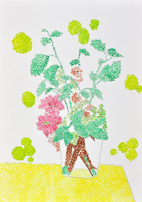 おうちで描こうよ 児童画クラス点描画_b0212226_15310937.jpg