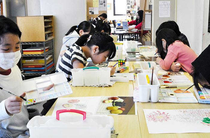 おうちで描こうよ 児童画クラス点描画_b0212226_15520503.jpg