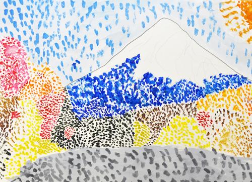おうちで描こうよ 児童画クラス点描画_b0212226_16062575.jpg