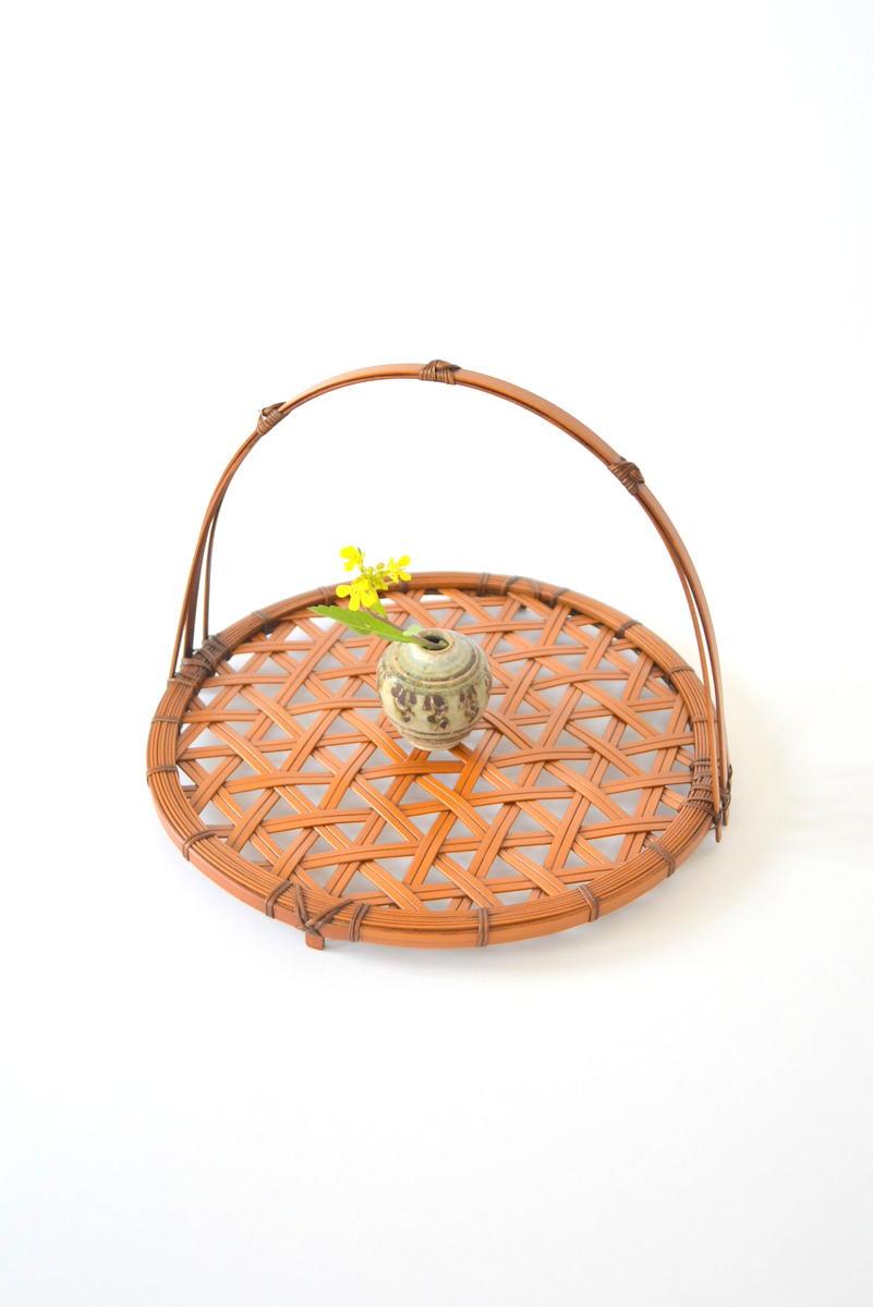 「吉田佳道 竹の花籠展」麻の葉菓子器_d0087761_22402331.jpg