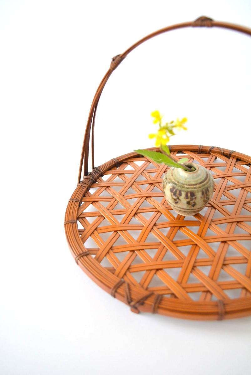 「吉田佳道 竹の花籠展」麻の葉菓子器_d0087761_22403098.jpg