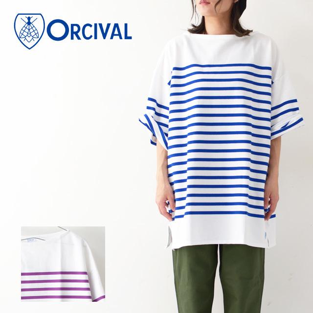 ORCIVAL [オーチバル・オーシバル] W\'s REGULAR STRIPE BIG S/S TEE [RC01-6116C] カットソー・長袖・ LADY\'S_f0051306_16255436.jpg