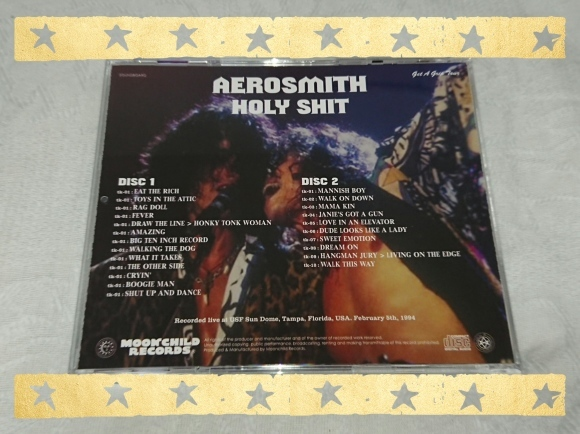 4/23宣言下16日目(休日6日目) AEROSMITH / HOLY SHIT_b0042308_01180151.jpg