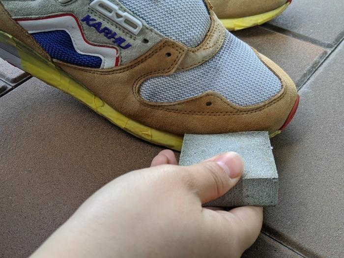 おうちで靴磨き スニーカーのスエード補色。2_b0226322_13522456.jpg