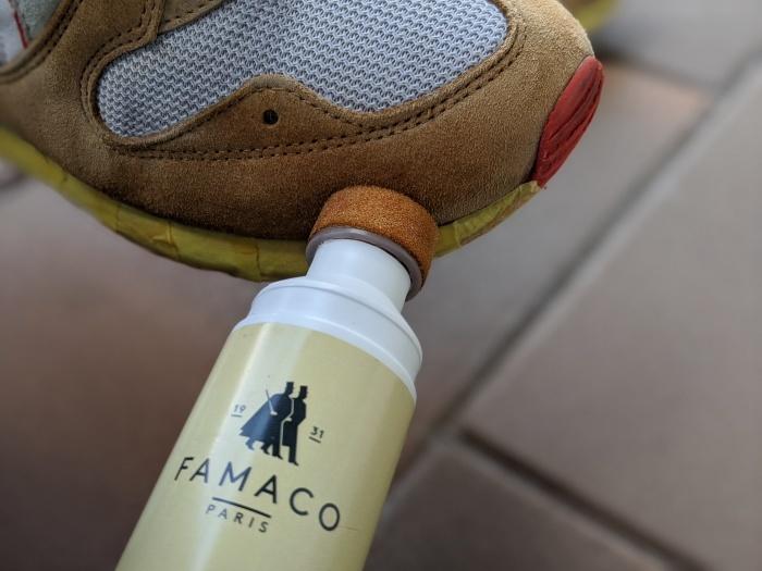おうちで靴磨き スニーカーのスエード補色。2_b0226322_13522889.jpg