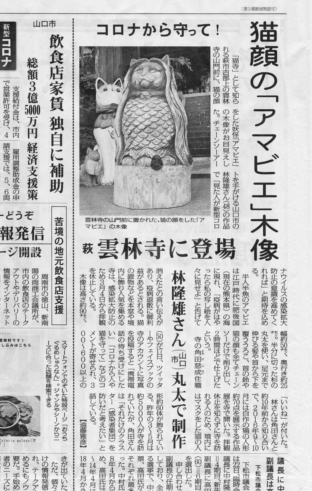 ネコビエ様in毎日新聞!!_d0098322_08171894.jpg
