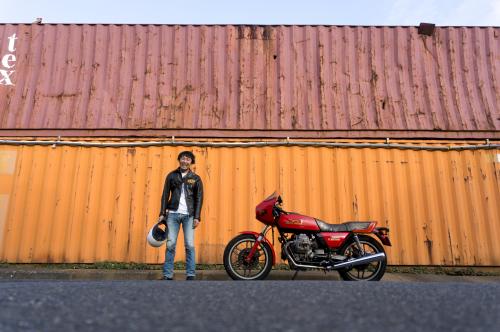山﨑 達矢 & Moto Guzzi V35 Imola(2019.11.02/FUNABASHI)_f0203027_13011206.jpg