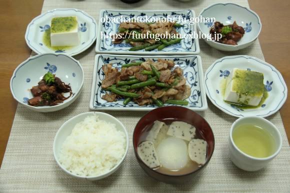 今日の焼き鳥丼和風弁当&昨夜のおいしいもんをちょっとずつ和膳_c0326245_12061940.jpg
