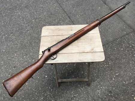 三八式教練銃・機関部木製の無可動模擬銃。_a0154482_23085420.jpg