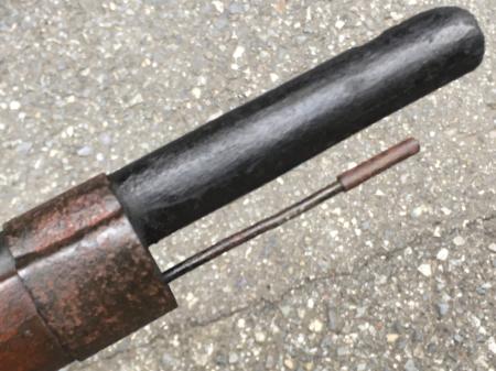 三八式教練銃・機関部木製の無可動模擬銃。_a0154482_23105611.jpg