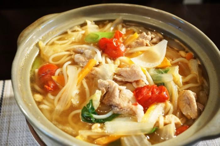 ■麺類・晩ご飯【鍋焼きうどん】_b0033423_23273257.jpg