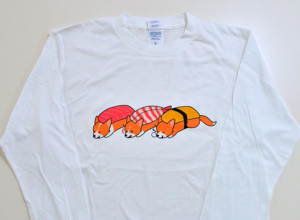 お寿司コーギーTシャツ_d0102523_14081513.jpg