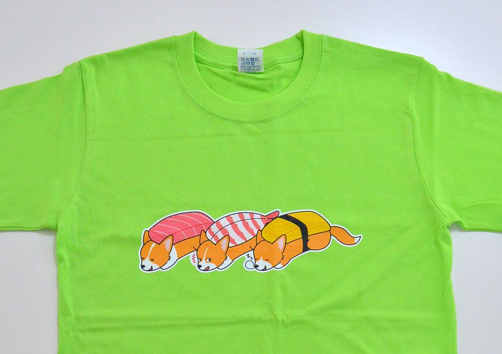 お寿司コーギーTシャツ_d0102523_14082953.jpg
